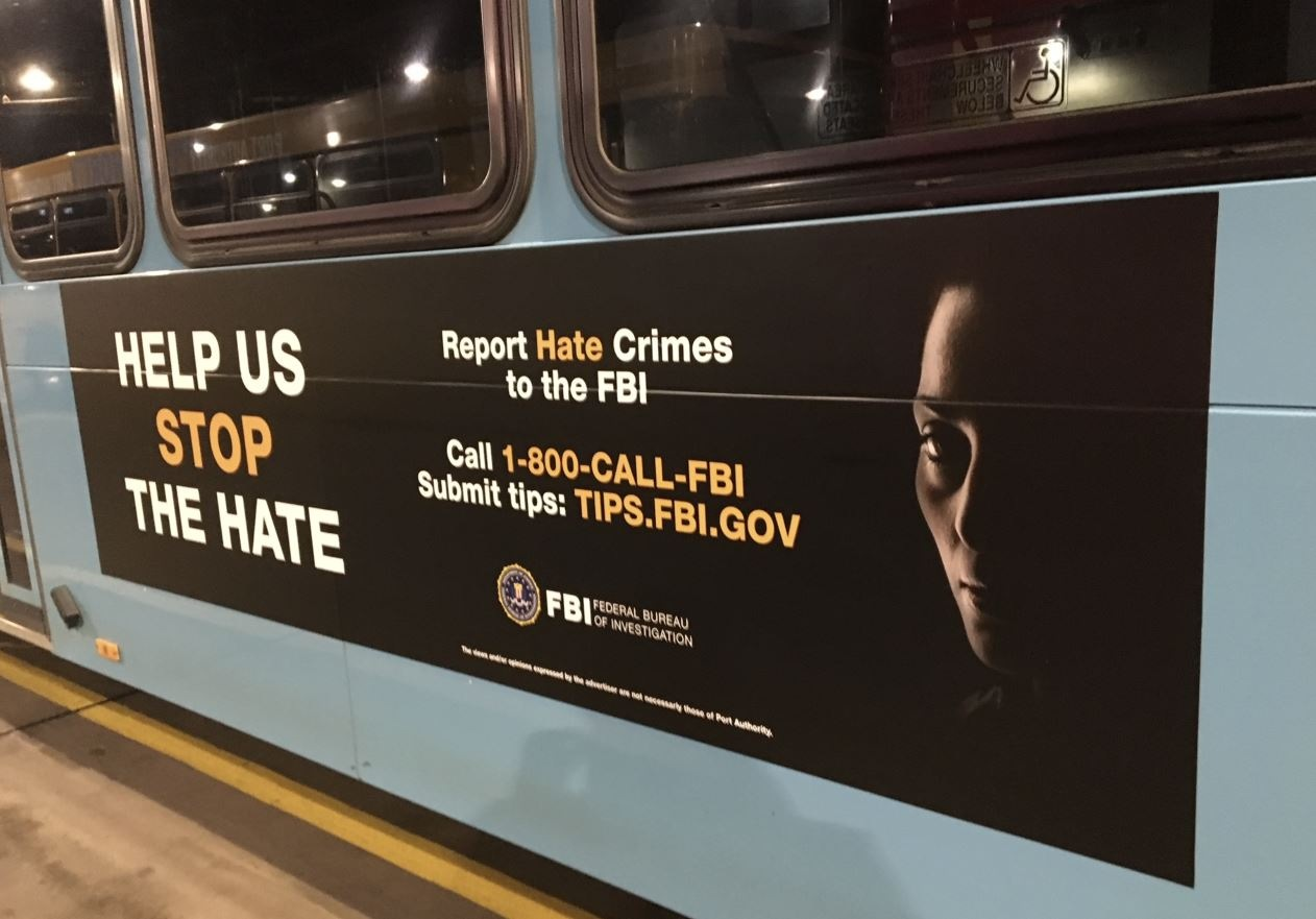 Pittsburgh Hate Crimes Ad on Bus