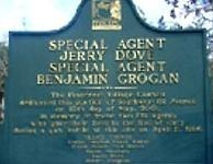 A placard in Miami honors Special Agents Jerry Dove and Benjamin Grogan, who were killed in the line of duty on April 11, 1986.