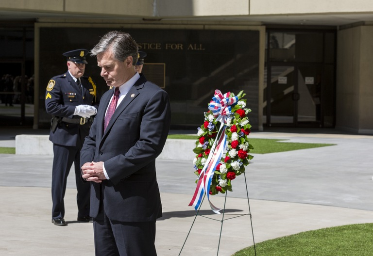 FBI Director Wray at 2018 Special Agent Memorial Service