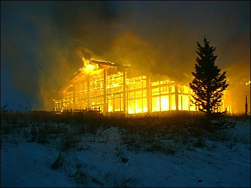 Ski Resort on Fire in Operation Backfire