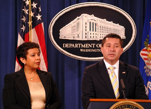 FBI ADIC Rodriguez and Attorney General Lynch Announce Charges Against FIFA Officials