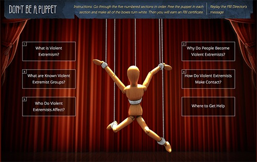 Screenshot of Donat Be a Puppet Website Homepage