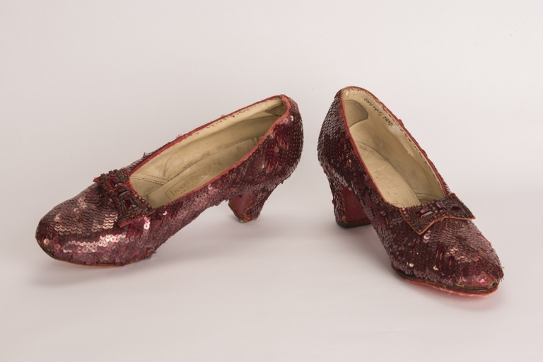 In 2018, the FBI recovered this pair of ruby slippers worn by Judy Garland in the 1939 film The Wizard of Oz and stolen from the actress's namesake museum in Minnesota in 2005.
