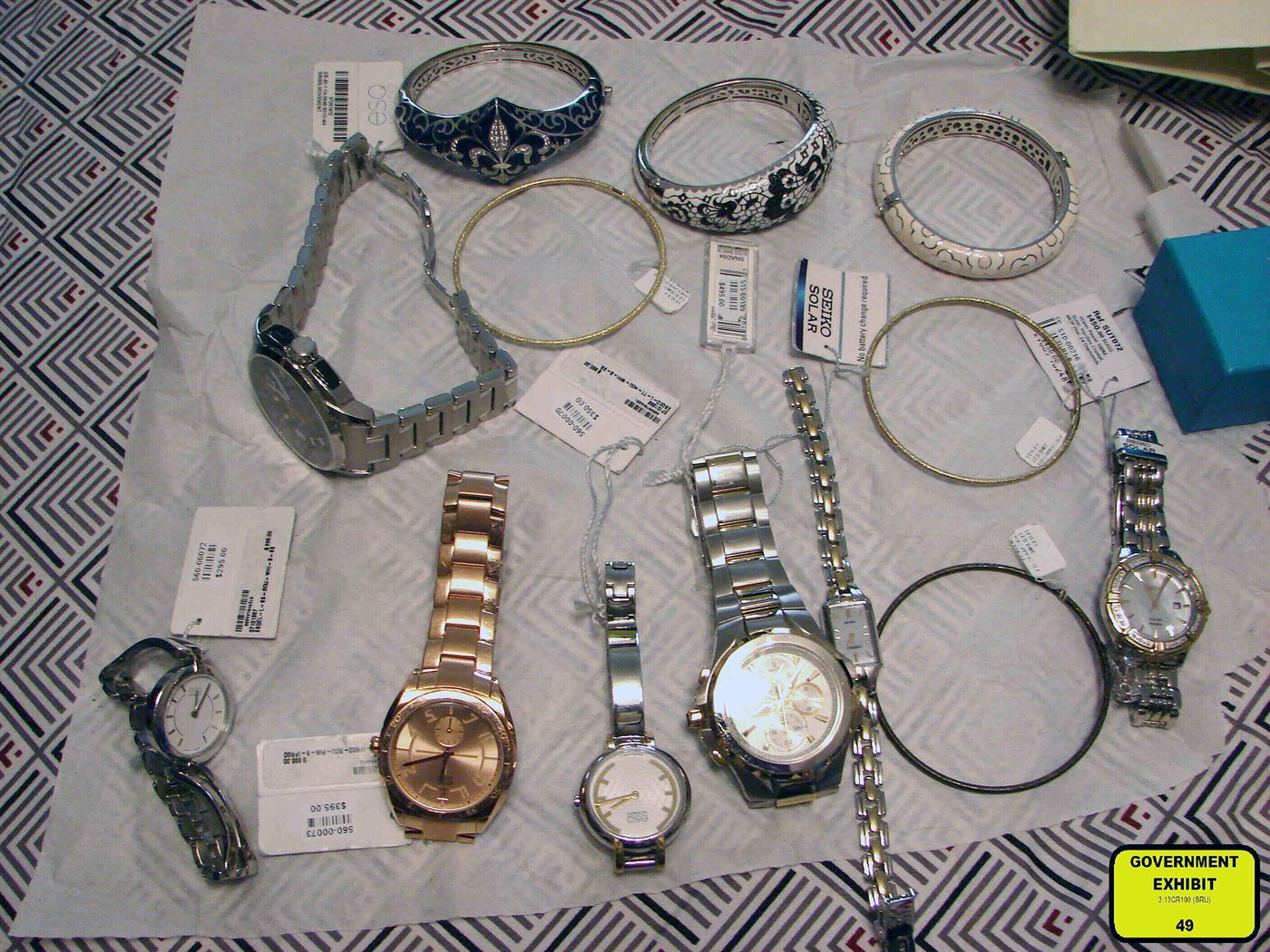 Recovered Jewelry Stolen in 2013 Connecticut Robbery