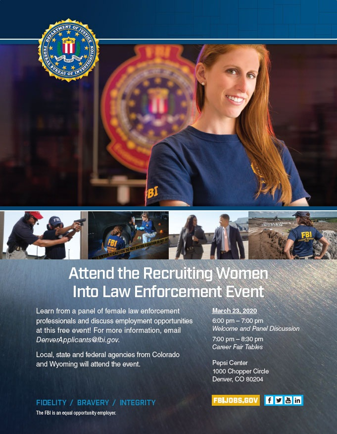 Recruiting Women Into Law Enforcement Event Poster
