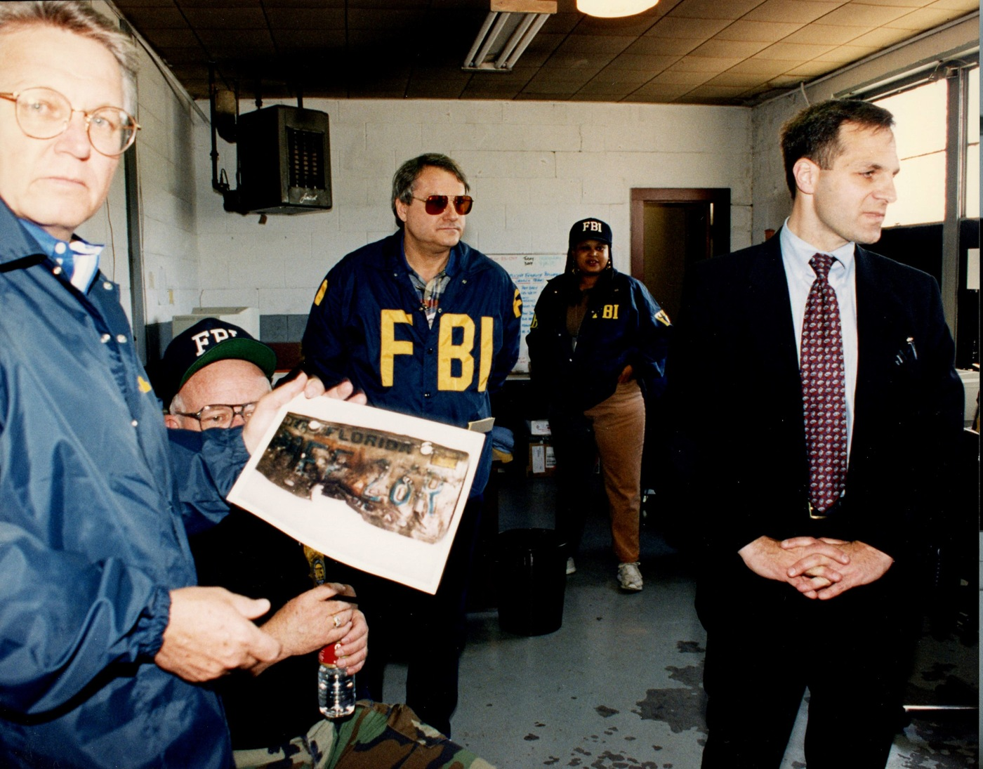 Bob Ricks (left) was the special agent in charge of the Oklahoma City Field Office in 1995. Former FBI Director Louis J. Freeh (right) visited Oklahoma City after the bombing.