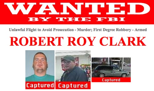 Clark was wanted in connection with the murders of a Strasburg, Ohio couple and a string of armed robberies.