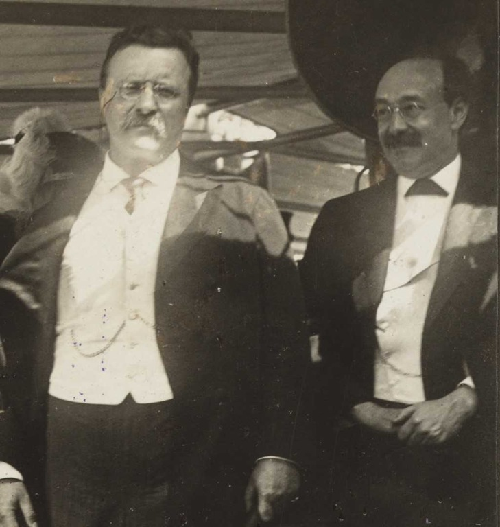 Historic portrait of Theodore Roosevelt (left) and Charles Bonaparte (Library of Congress Photo)