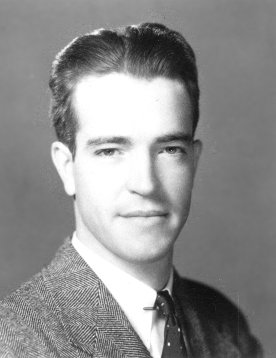 A black-and-white portrait depicting Francis Crosby, who led the FBI's El Paso Field Office in the 1960s.