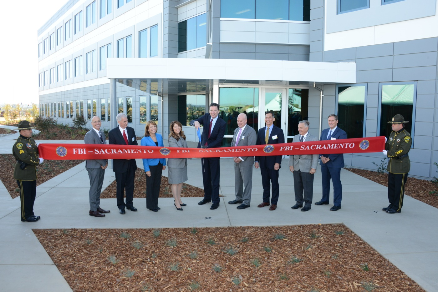 The Sacramento Field Office of the FBI hosted an opening ceremony and ribbon cutting to officially debut the field office's new headquarters facility in Roseville on October 11, 2016.