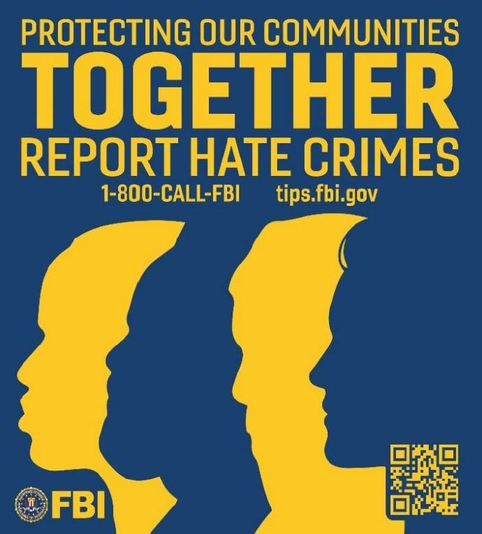 San Diego Hate Crimes Ad, Silhouette Background