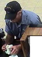 Escondido, California Bank Robbery Suspect, Photo 2 of 6 (5/12/14)