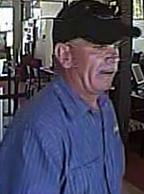 Escondido, California Bank Robbery Suspect, Photo 4 of 6 (5/12/14)