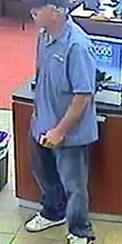 Escondido, California Bank Robbery Suspect, Photo 6 of 6 (5/12/14)