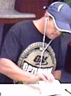 Suspect responsible for robbing the California Bank and Trust located at 3787 Avocado Boulevard in La Mesa, California, on Monday, July 14, 2014.
