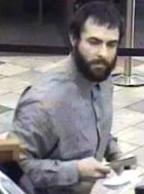 Suspect responsible for robbing the Wells Fargo Bank branch located at 685 Saturn Boulevard in San Diego, California, on Tuesday, October 7, 2014.