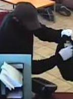 The El Chapparito Bandit is believed to be responsible for robbing 15 banks from November 2013 to September 13, 2014. Here, he is shown robbing the Wells Fargo Bank, 970 Otay Lakes Road, Chula Vista, California, on July 31, 2014.