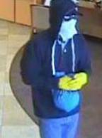 The El Chapparito Bandit is believed to be responsible for robbing 15 banks from November 2013 to September 13, 2014. Here, he is shown robbing the Wells Fargo Bank, 10707 Camino Ruiz, San Diego, California, on Saturday, September 13, 2014.