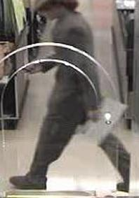 Suspect responsible for robbing the U.S. Bank branch located inside of the Von's grocery store at 6155 El Cajon Blvd. in San Diego, California, on Wednesday, May 7, 2014.