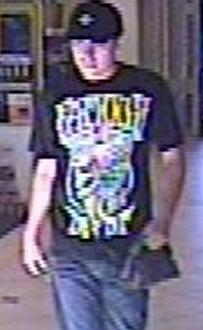 Suspect responsible for robbing the California Bank and Trust branch located at 16796 Bernardo Center Drive in San Diego, California, on Friday, June 27, 2014.