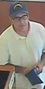 Suspect who robbed the U.S. Bank, located at 7700 Carlsbad Village Drive, Carlsbad, California on Tuesday, August 5, 2014. The robber, nicknamed The Hills Bandit, also robbed three banks in the Los Angeles area; one Wells Fargo Bank in on May 16, 2014, and two Citi Banks on July 16, 2014, and July 25, 2014.
