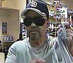 Suspect who robbed the US Bank, located inside of the Vons grocery store 620 Dennery Road, San Diego, California, on Thursday August, 14, 2014.
