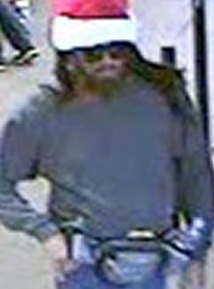 Suspect who robbed the Chase Bank branch, located at 607 Loma Santa Fe, Solana Beach, California, on Tuesday, November 25, 2014.