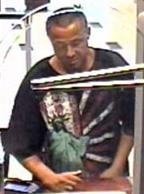 Suspect responsible for robbing the Union Bank branch located at 1201 Fifth Avenue in San Diego, California, on Thursday, August 13, 2015.