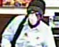 Suspect who robbed the Bank of America branch, located at 1407 Main Street, Ramona, California on Wednesday, February 11, 2015.