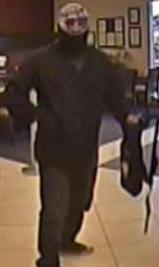Suspect who attempted to rob the California Bank and Trust located at 29124 Valley Center Road in Valley Center, California, on Friday, April 3, 2015.