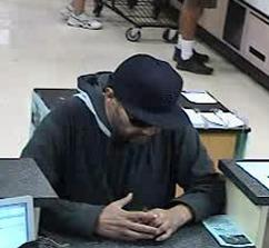 Suspect responsible for robbing the U.S. Bank branch located inside the Albertsons grocery store at 1509 East Valley Parkway in Escondido, California, on Friday, September 4, 2015.