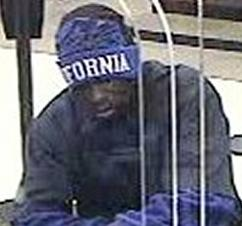 Suspect responsible for robbing the Chase Bank branch located at 101 West Broadway, San Diego, California, on Saturday, December 26, 2015.