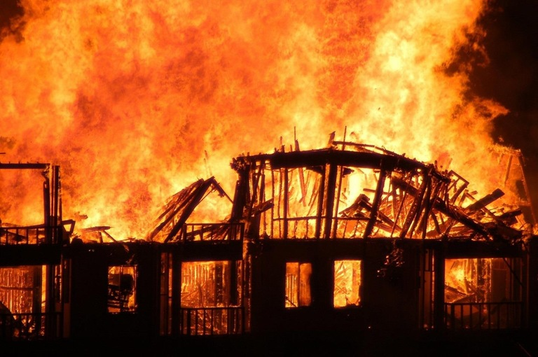 San Diego Condo Arson Flames