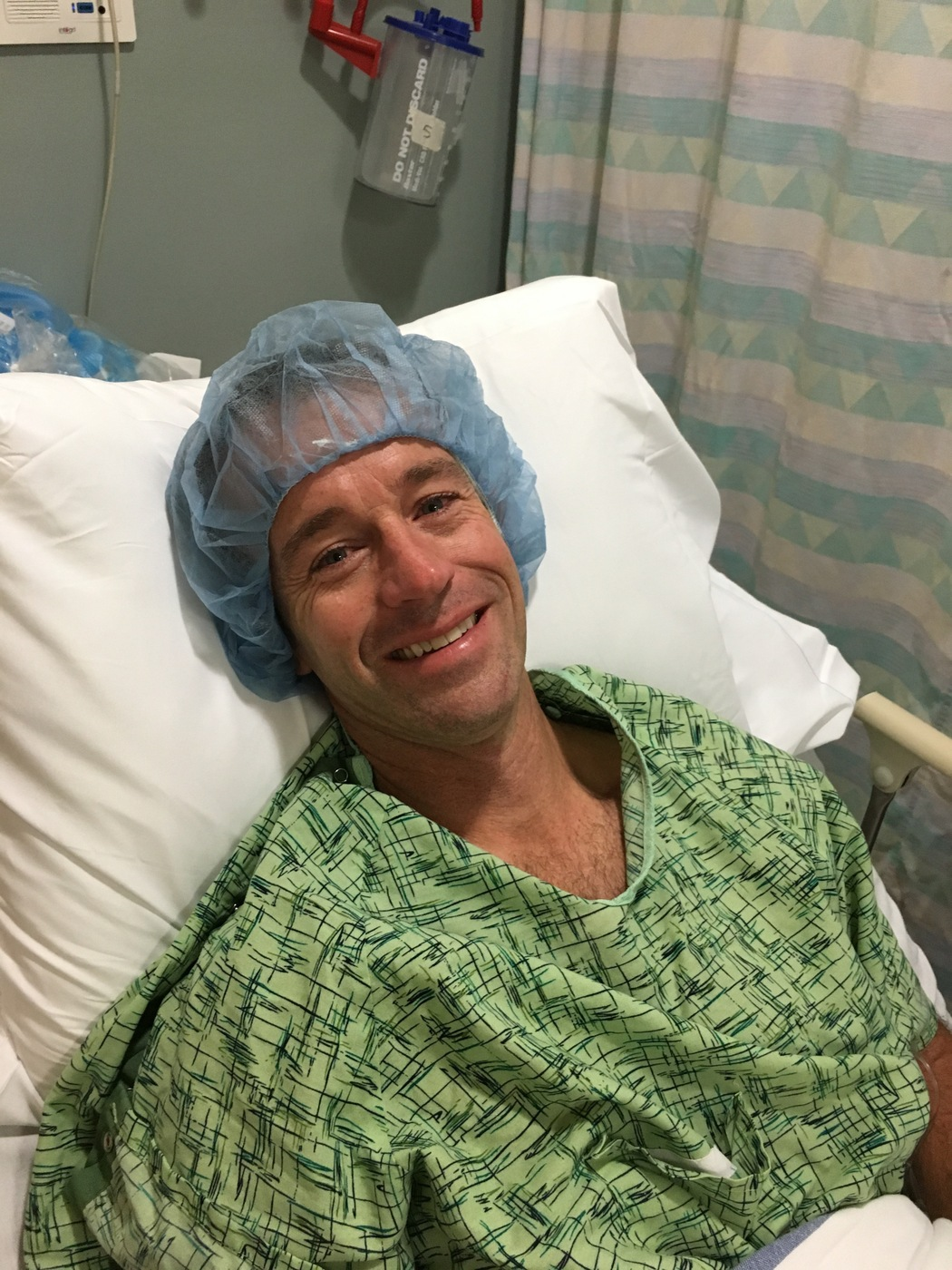Scott McDonough before his cancer surgery in 2017