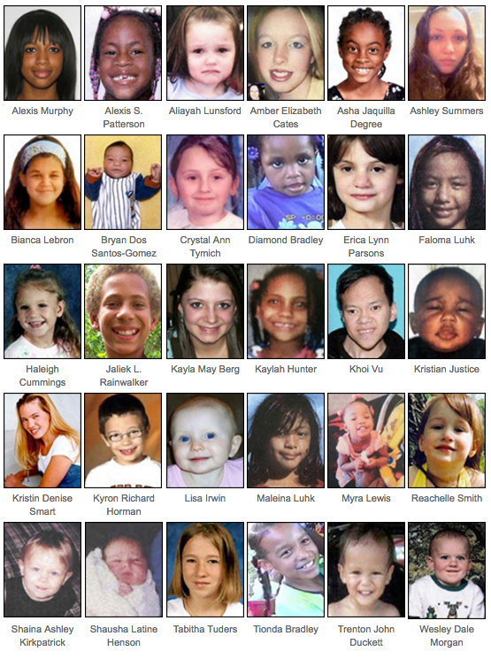 The FBI is seeking the public's help in locating any of the victims pictured here from our Kidnapping and Missing Persons webpage as part of National Missing Children's Day on May 25, 2016.