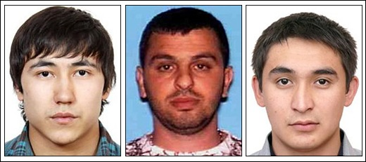 Hovhannes Harutyunyan, center, an Armenian who was living in Burbank, California, is one of the architects of a fraud ring that enlisted visa holders like Yermek Dossymbekov, left, and Alisher Omarov to commit crimes.
