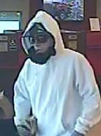 Suspect wanted for his alleged involvement in at least two bank robberies: the Wells Fargo, Des Moines, Washington, on June 21, 2014; and the Key Bank, Issaquah, Washington on June 25, 2014.