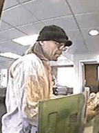 Suspect believed to have robbed at least five different banks within one month, most recently on July 30, 2014 at a Lynnwood, Washington Wells Fargo bank.
