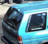Vehicle used by the suspect believed to have robbed at least five different banks within one month, most recently on July 30, 2014 at a Lynnwood, Washington Wells Fargo bank.