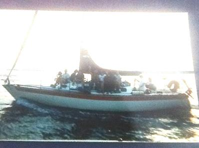The 1976 White Cooper sailboat, named the Draco, used in the Billy Hanson kidnapping case.