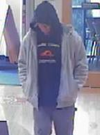 Suspect who robbed two banks in Auburn, Washington in January 2015.