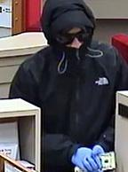 Suspect who robbed the Bank of America located on Front St. N, Issaquah, Washington on Tuesday, December 1, 2015.