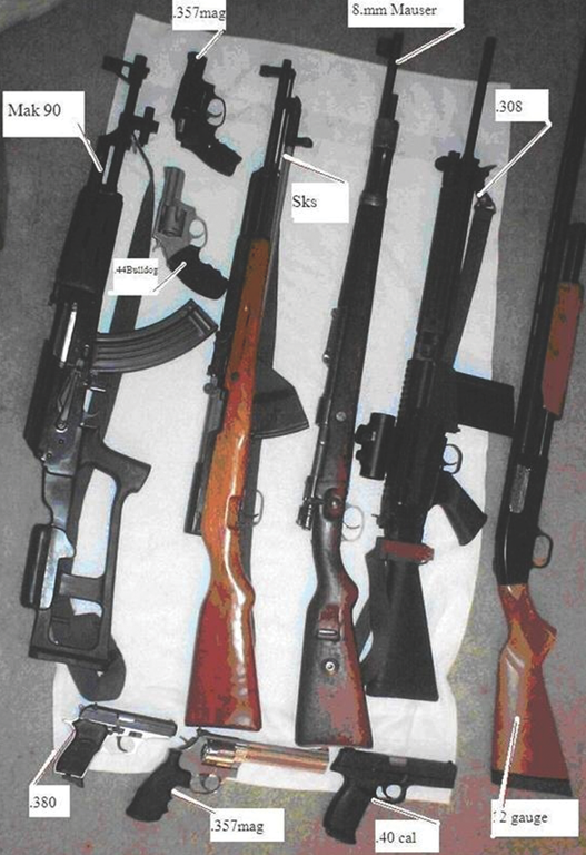 Seized Cache of Guns