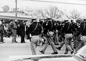 FBI photograph taken during the 1965 Selma to Montgomery protest march.