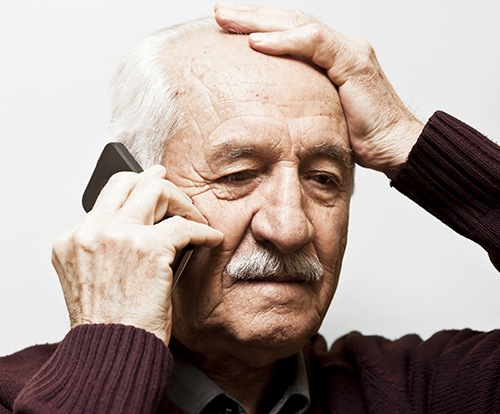 Senior Citizen on Phone