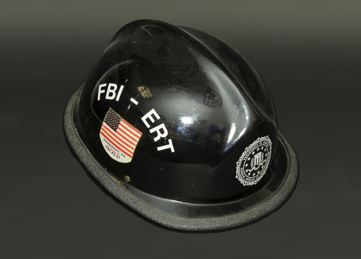 The FBI's September Artifact of the Month is a black hard hat that a 9/11 responder wore.