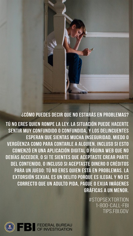 Sextortion Q&A: Will I Be In Trouble? (Spanish)