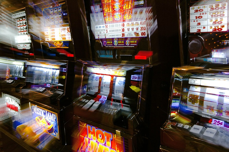 Blurred Slot Machines (Stock Image)