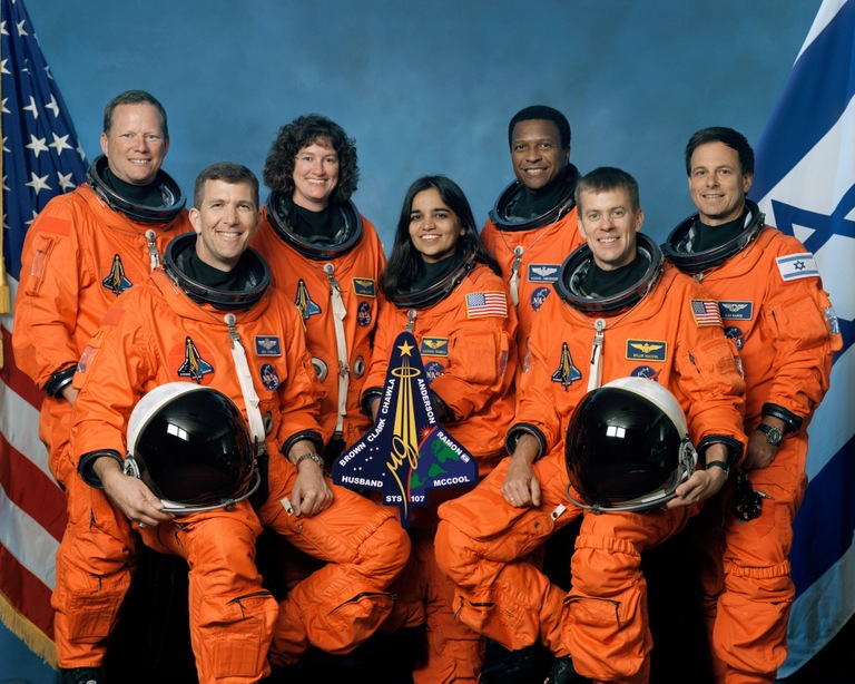The crew of the space shuttle Columbia's last mission. (NASA Photo)