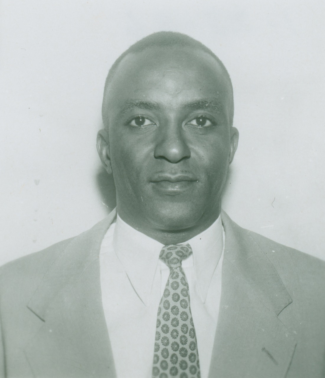 Black and white photograph of Leo James McClairen, who became the first FBI agent in the Miami Field Office—and the Deep South—in 1956.